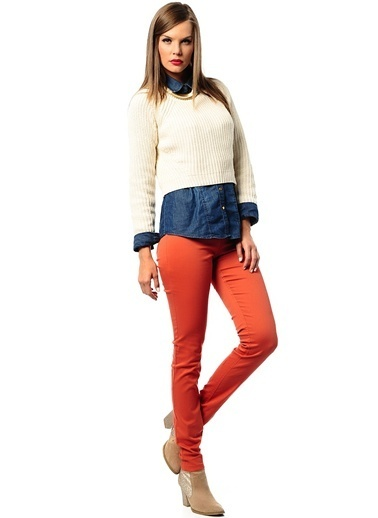 Vero Moda Jean Pantolon Kiremit